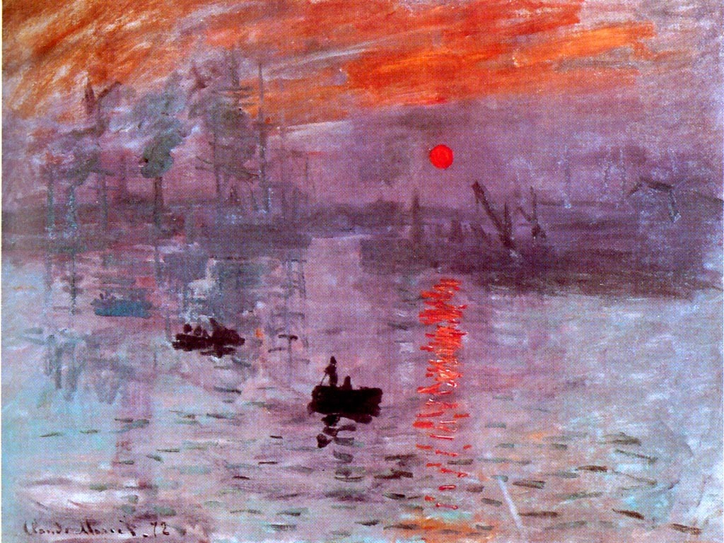 Artistic Wallpaper: Monet - Impression Soleil Levant