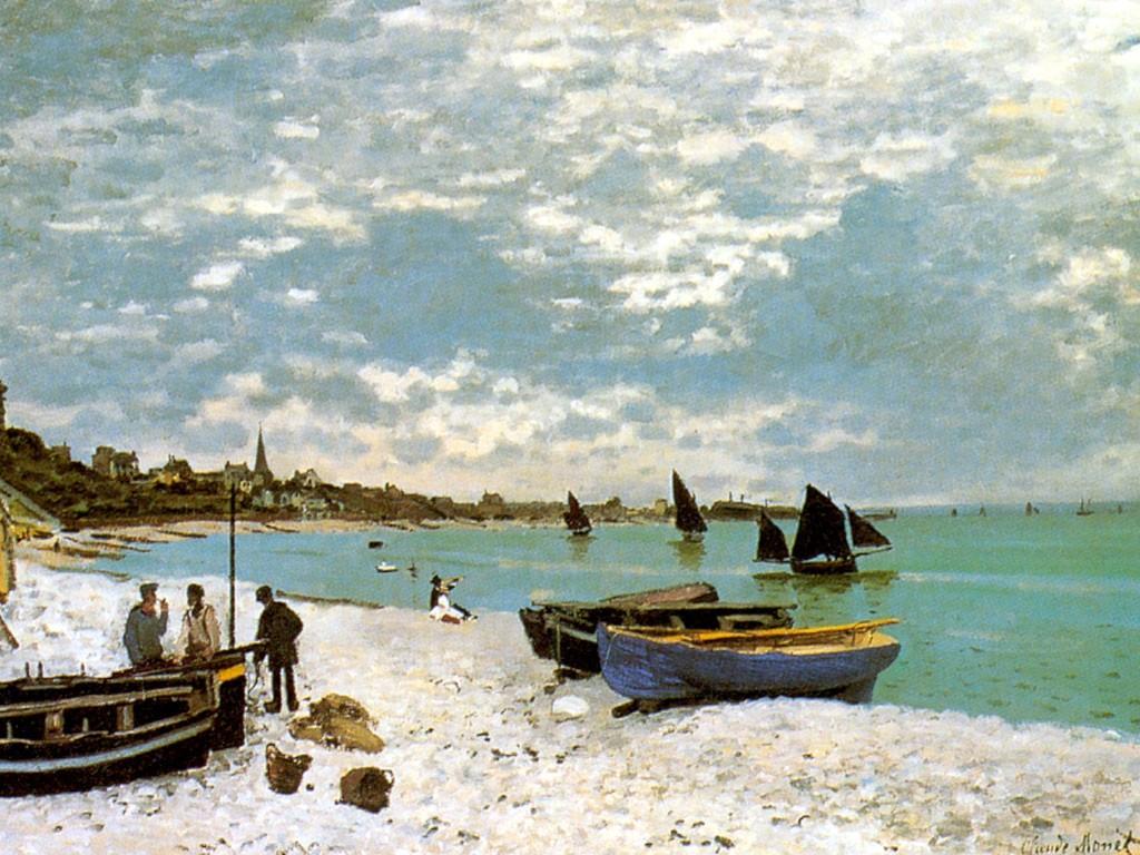 Artistic Wallpaper: Monet - La Plage de Saint Adresse
