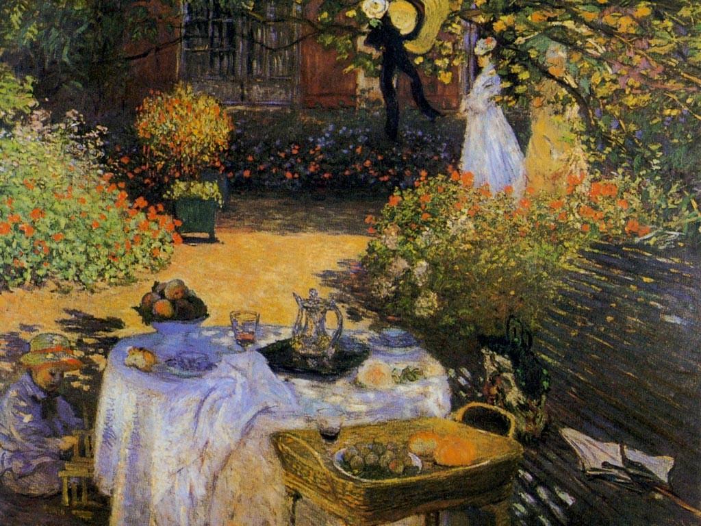 Artistic Wallpaper: Monet - Le Dejeuner