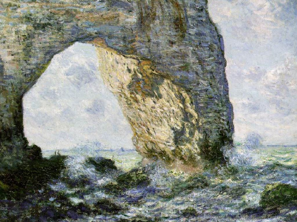 Artistic Wallpaper: Monet - Rock Arch West of Etretat