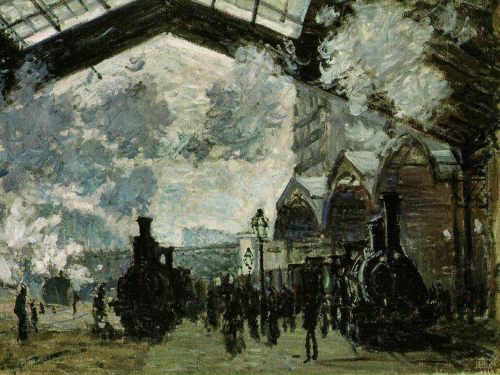 Artistic Wallpaper: Monet - The Station, St. Lazare