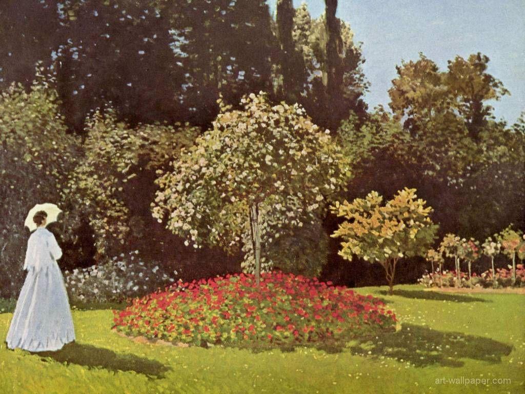 Artistic Wallpaper: Monet - Woman in the Garden