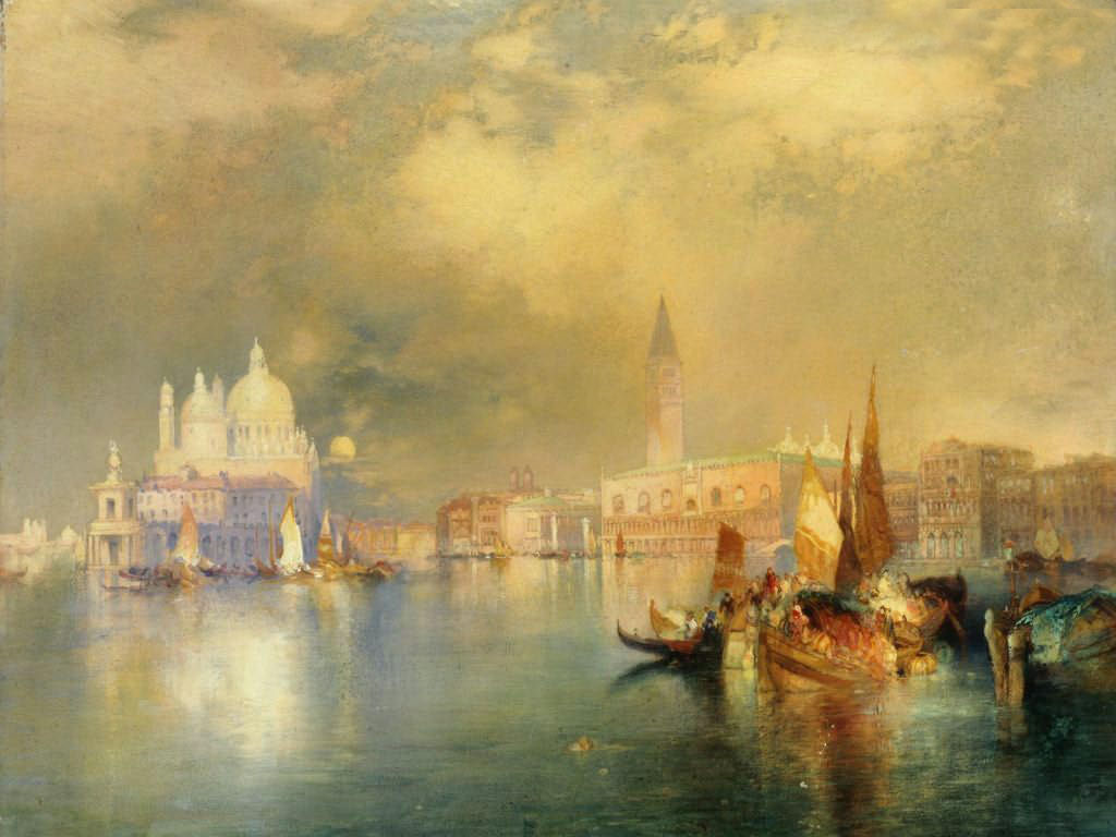 Artistic Wallpaper: Moran - Moonlight in Venice