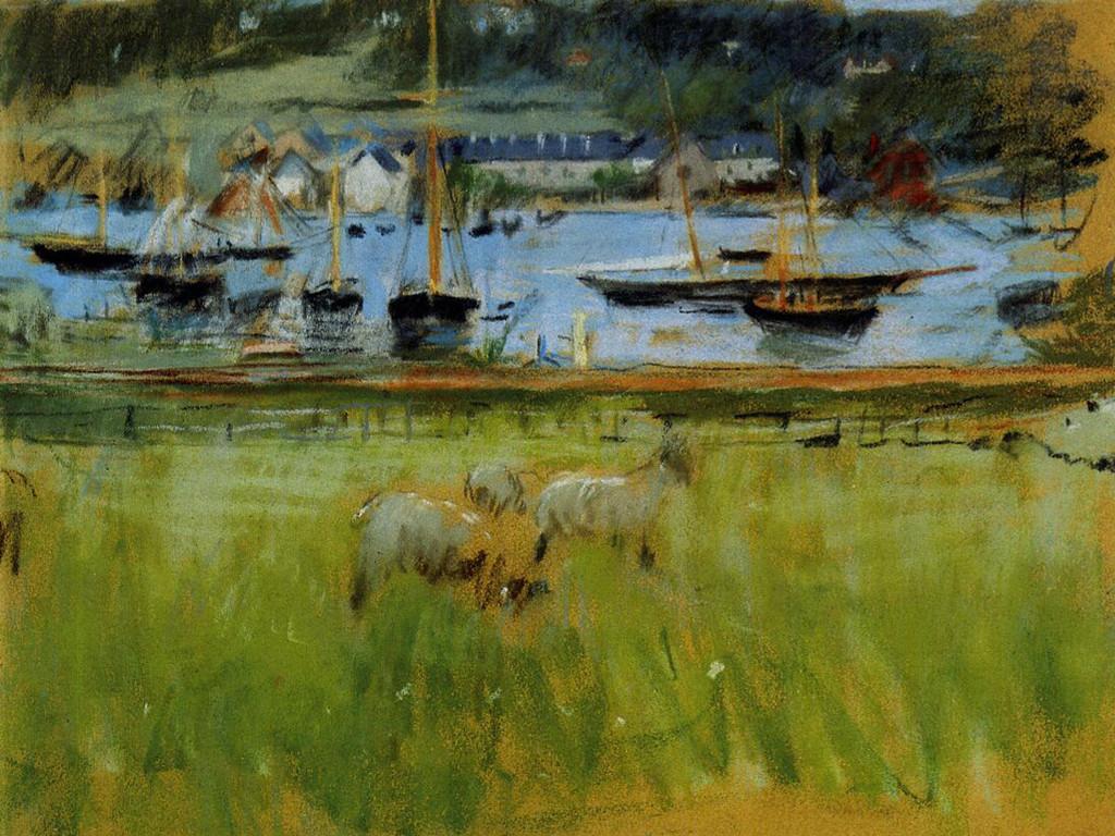 Artistic Wallpaper: Morisot - Harbor in the Port