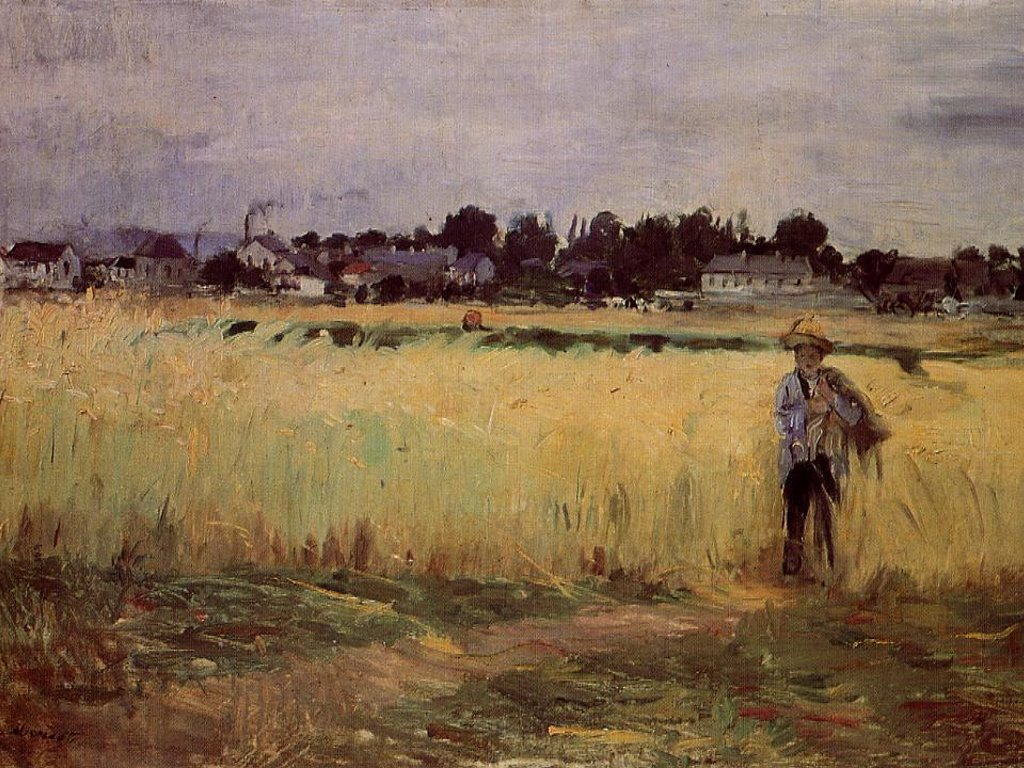 Artistic Wallpaper: Morisot - In the Wheat Fields at Gennevilliers