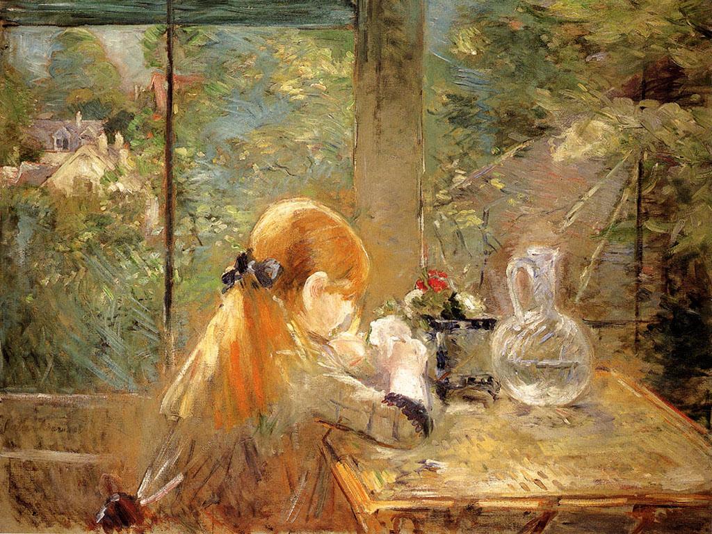 Artistic Wallpaper: Morisot - On The Veranda