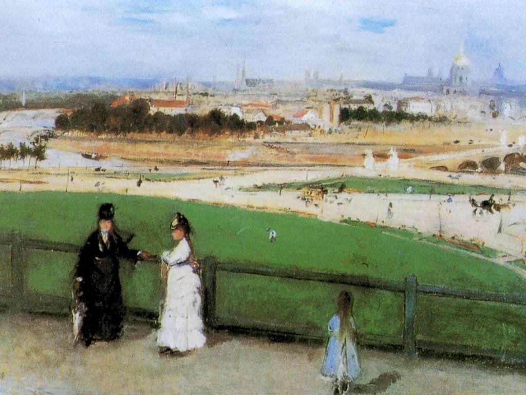 Artistic Wallpaper: Morisot - Vue de Paris Trocadero