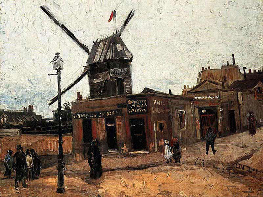 Artistic Wallpaper: Moulin de La Galette