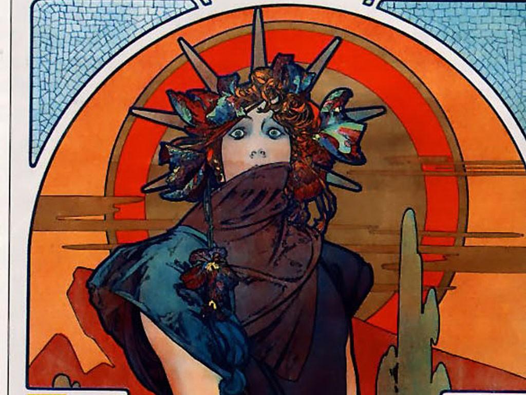 Artistic Wallpaper: Mucha - Medea
