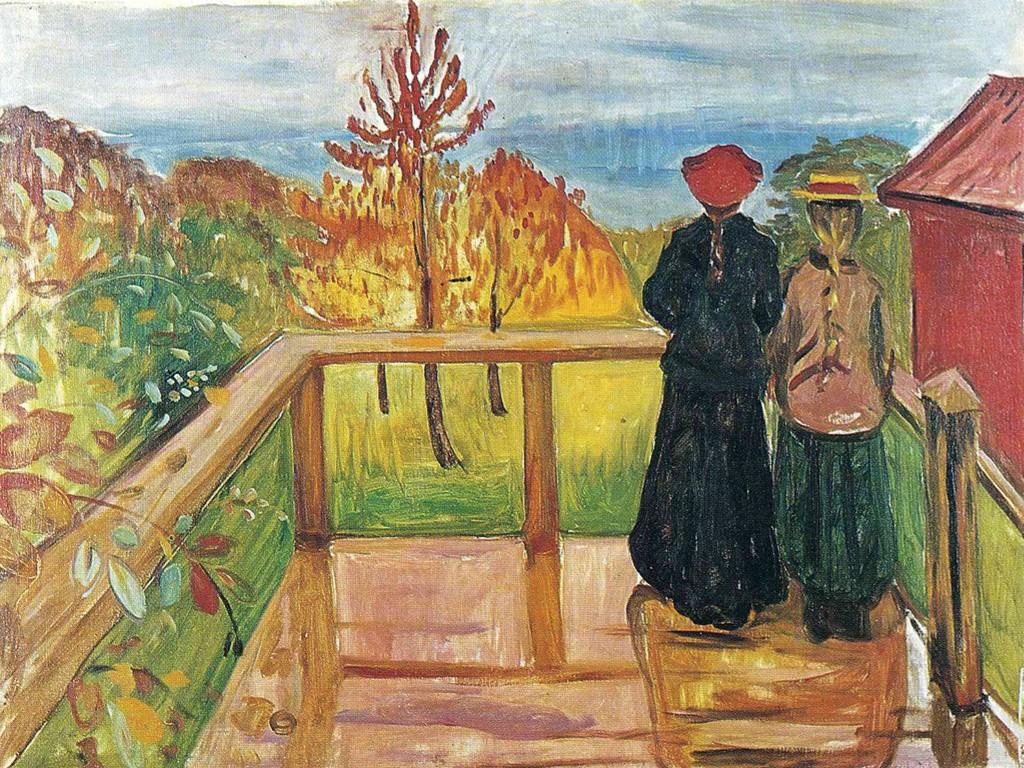 Artistic Wallpaper: Munch - Rain