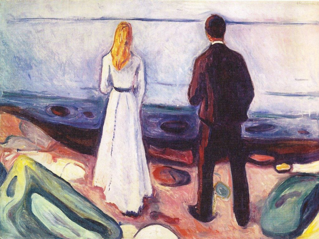 Artistic Wallpaper: Munch - The Lonely Ones