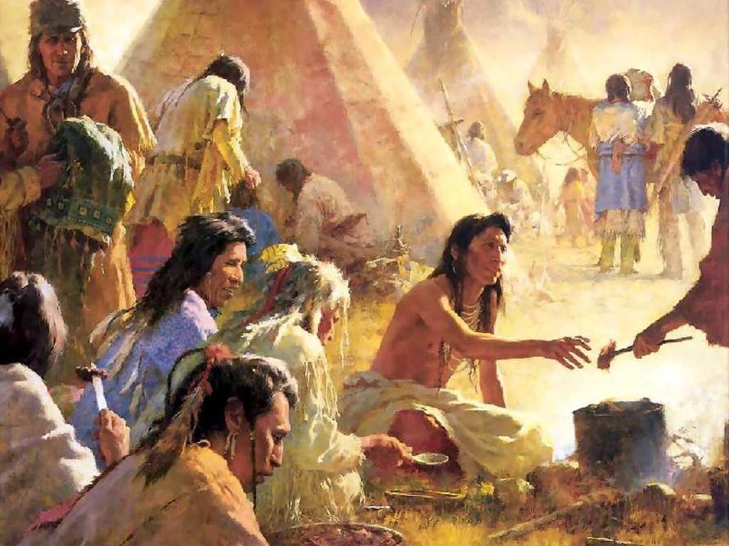 Artistic Wallpaper: Native Americans