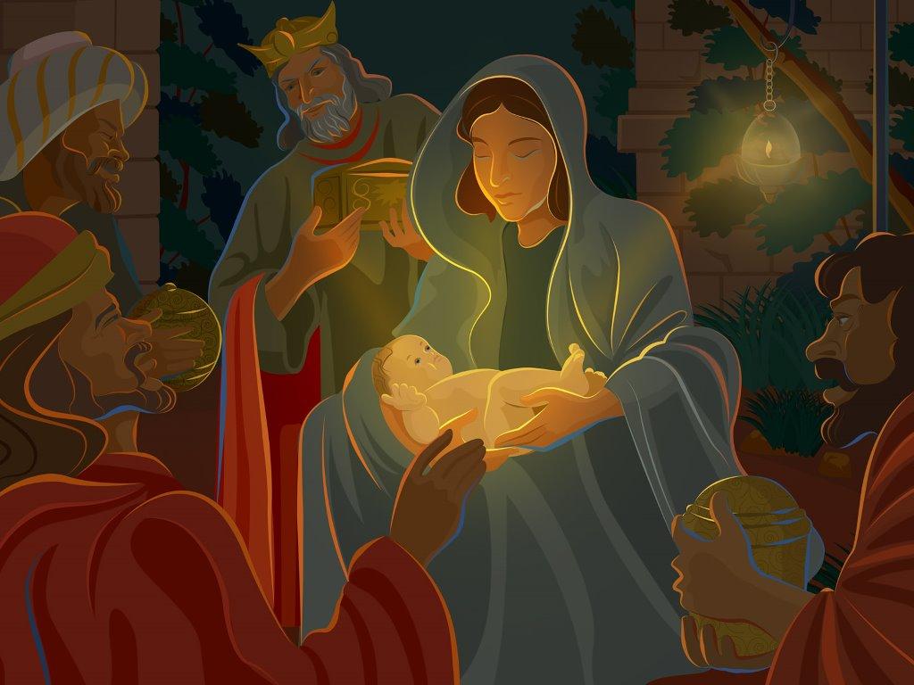 Artistic Wallpaper: Nativity