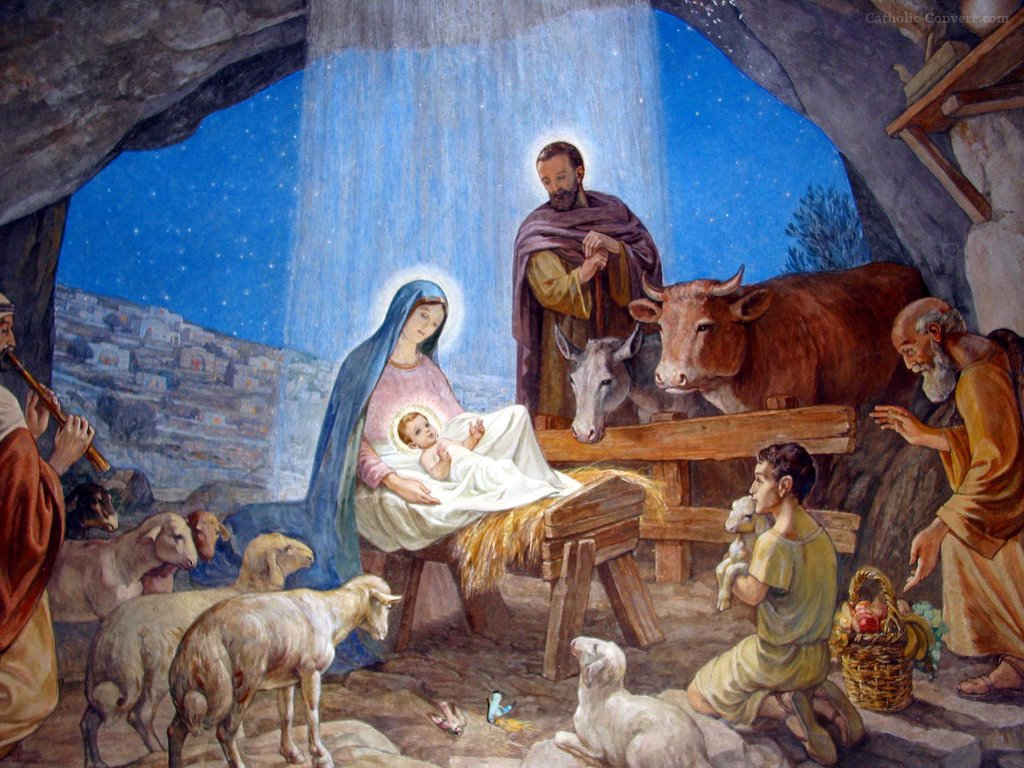 Artistic Wallpaper: Nativity