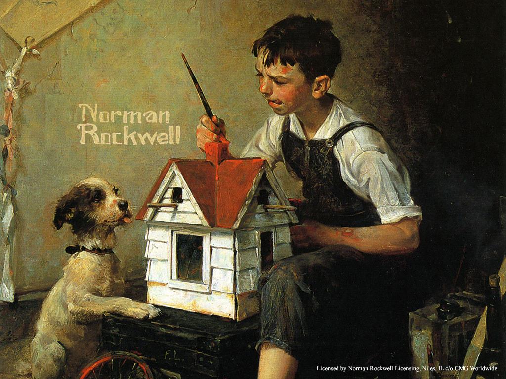 Artistic Wallpaper: Norman Rockwell