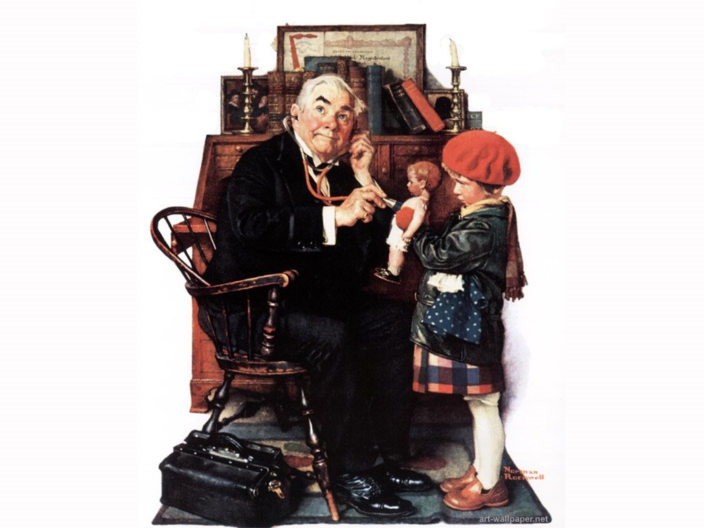 Artistic Wallpaper: Norman Rockwell - Doc