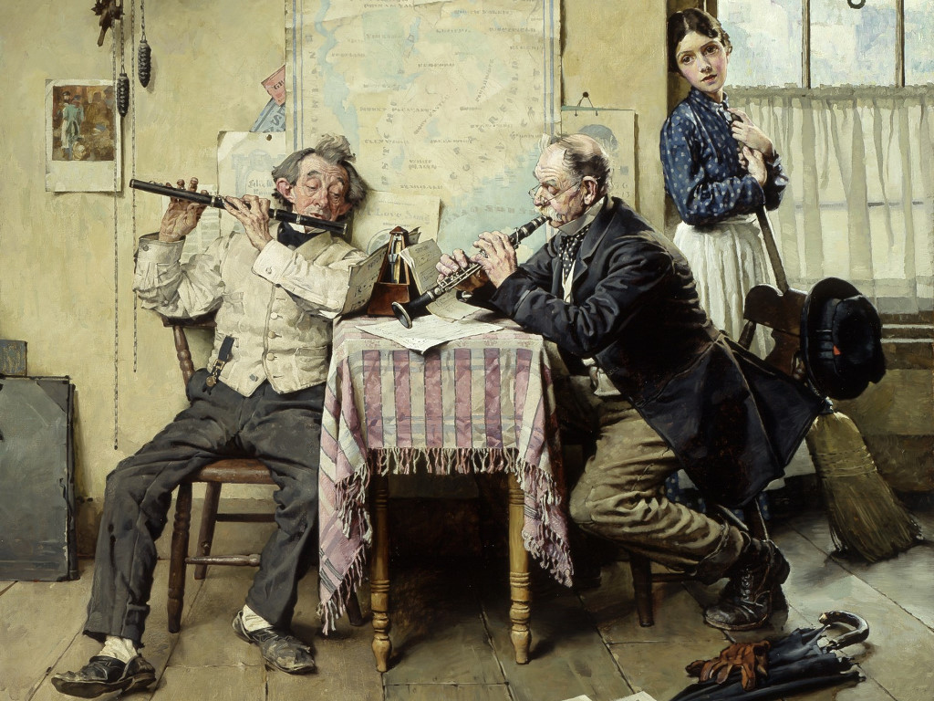Artistic Wallpaper: Norman Rockwell - Love Song