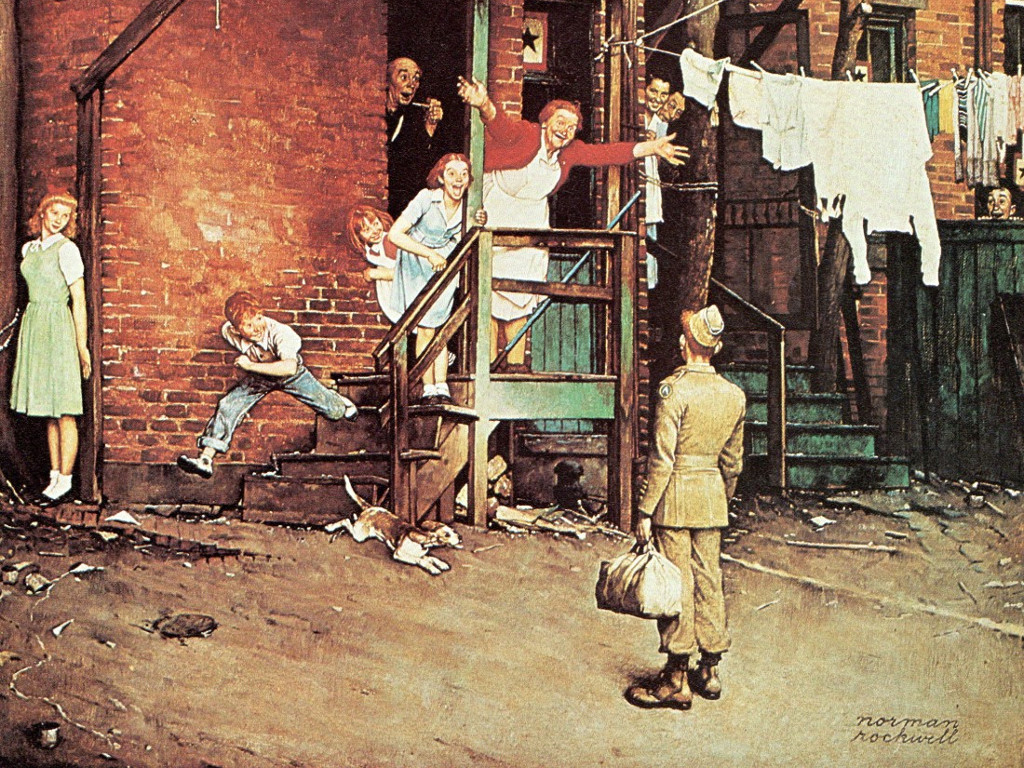 Artistic Wallpaper: Norman Rockwell - The Homecoming