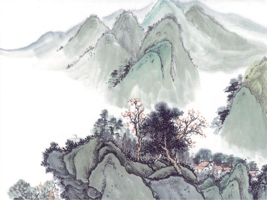 Artistic Wallpaper: Oriental Painting