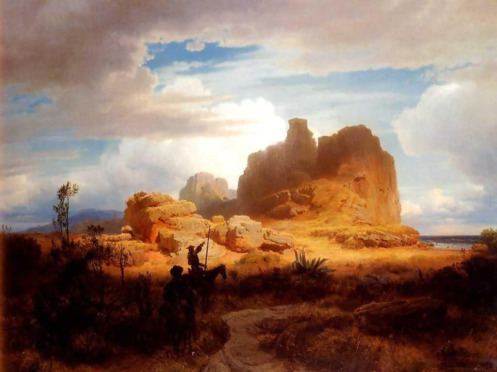 Artistic Wallpaper: Oswald Achenbach - Don Quixote