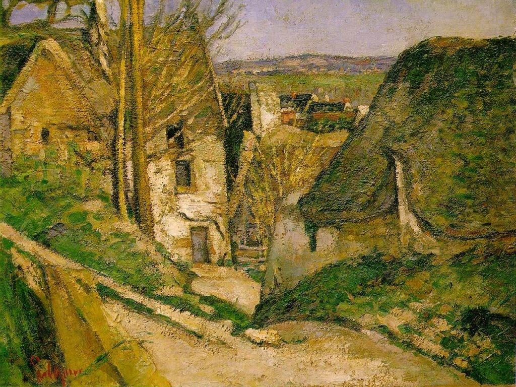 Papel de Parede Gratuito de Artes : Paul Cezanne - La Maison du Pendu