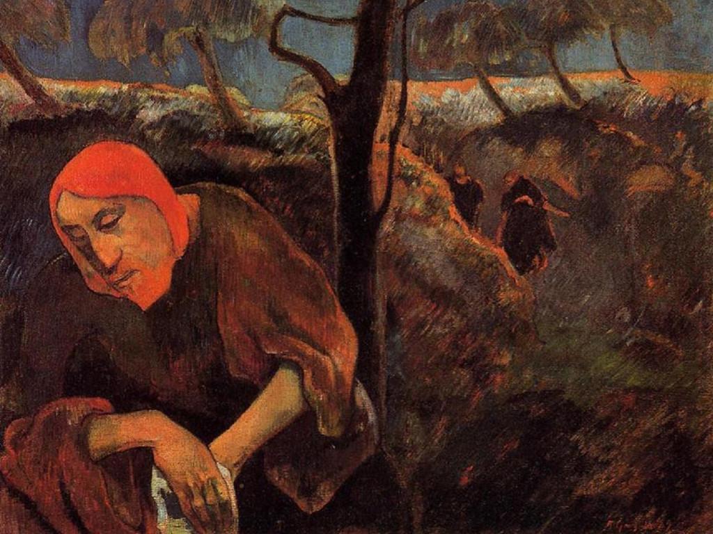 Artistic Wallpaper: Paul Gauguin - Christ in the Garden of Olives