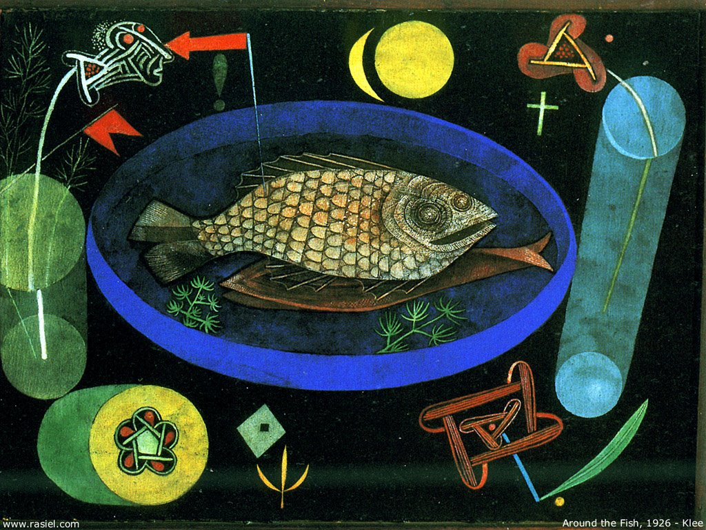 Artistic Wallpaper: Paul Klee - Around the Fish
