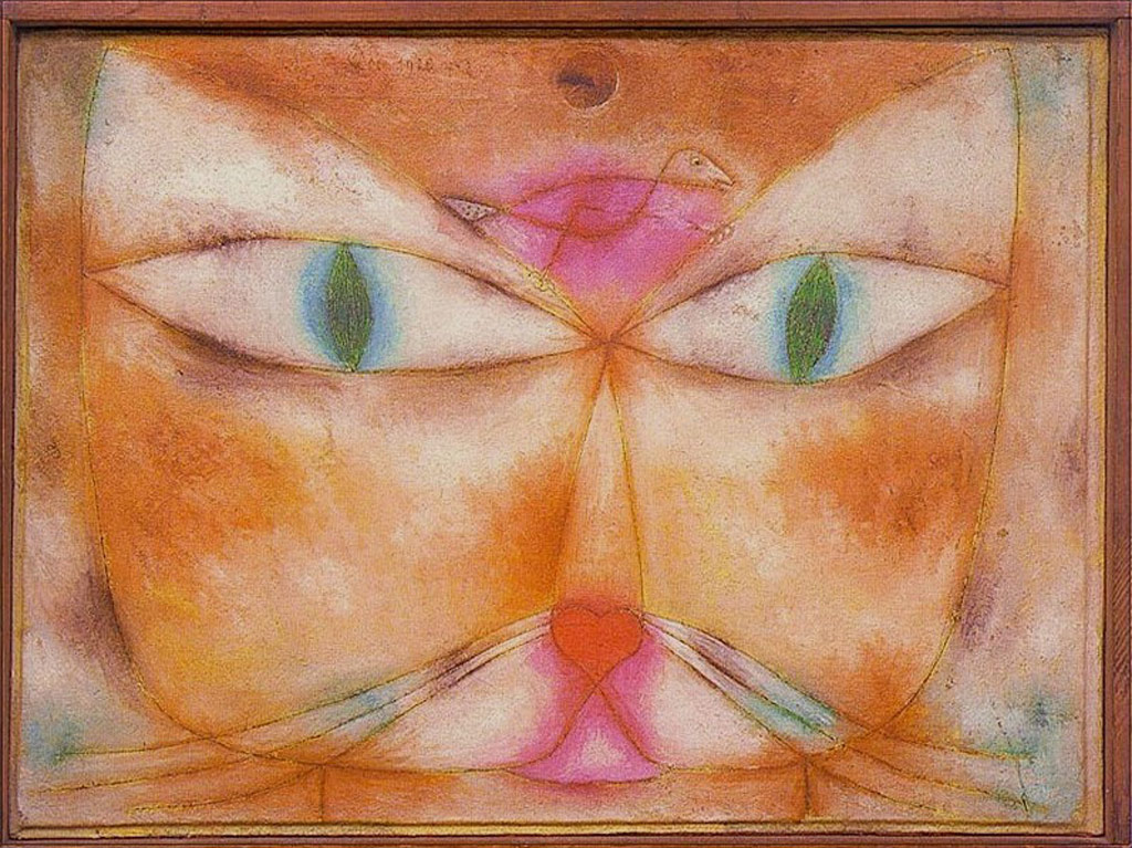 Artistic Wallpaper: Paul Klee - Cat and Bird