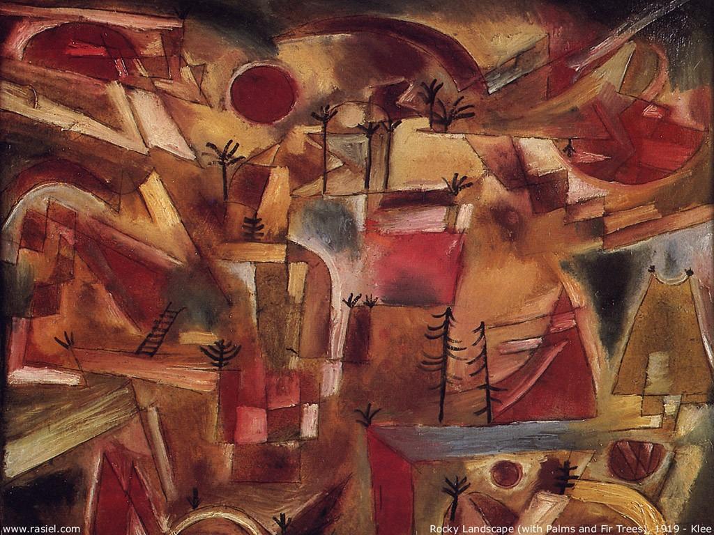 Artistic Wallpaper: Paul Klee - Rocky Landscape