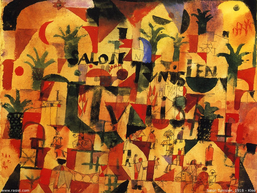 Artistic Wallpaper: Paul Klee - Salon Tunisien