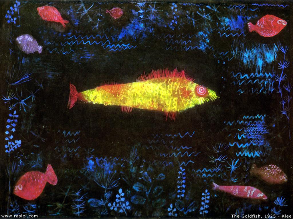 Artistic Wallpaper: Paul Klee - The Goldfish