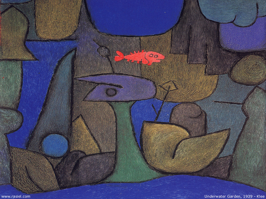 Artistic Wallpaper: Paul Klee - Underwater Garden