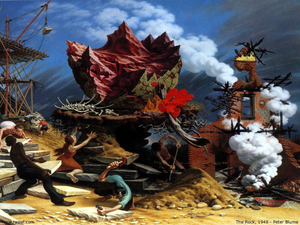 Artistic Wallpaper: Peter Blume - The Rock