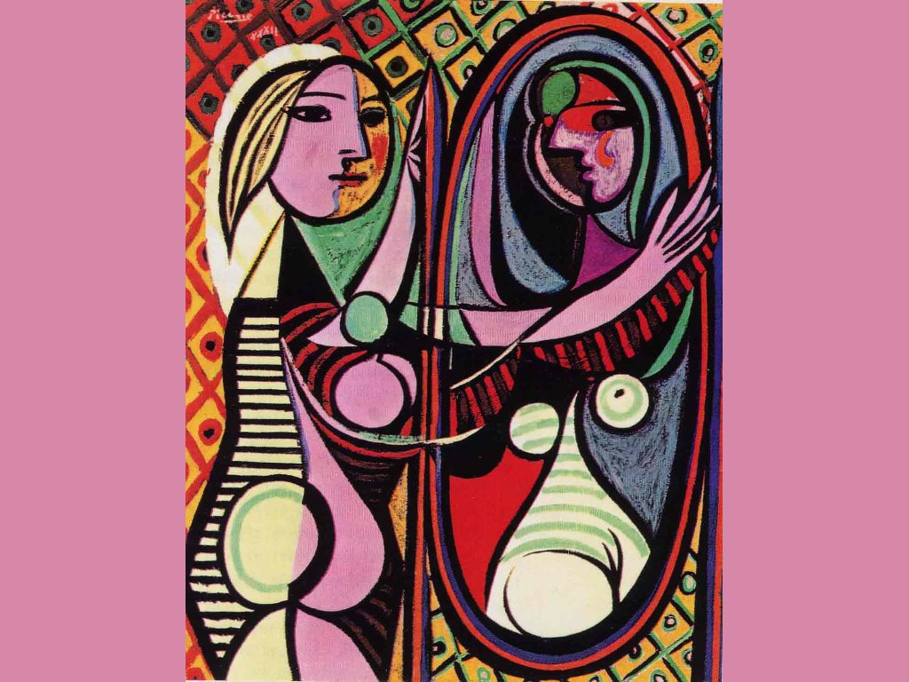 Artistic Wallpaper: Picasso - Girl Before Mirror