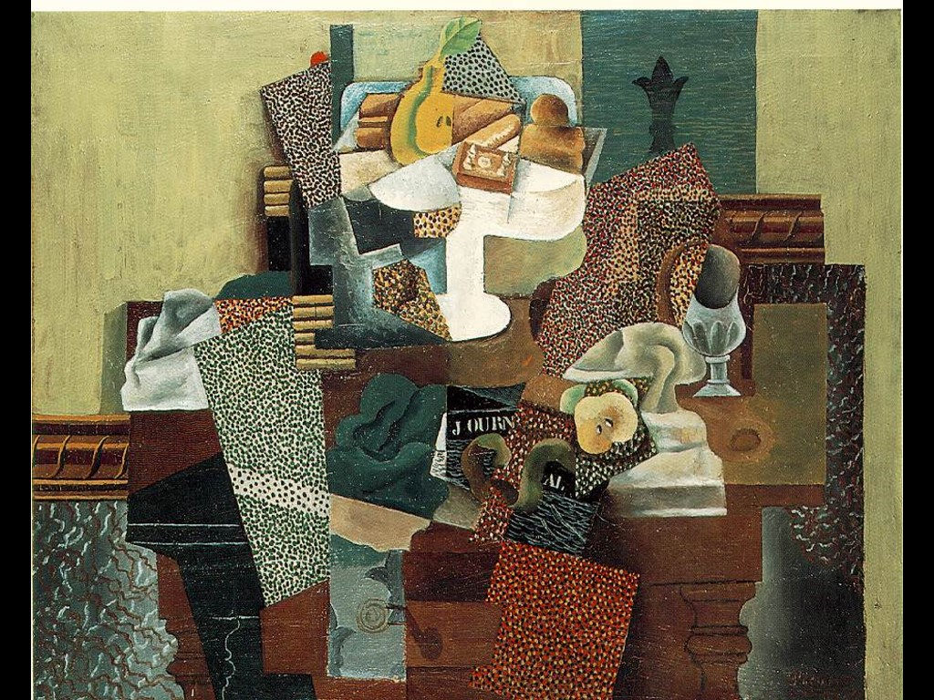 Artistic Wallpaper: Picasso - Still Life with Fruit Dish on a Table