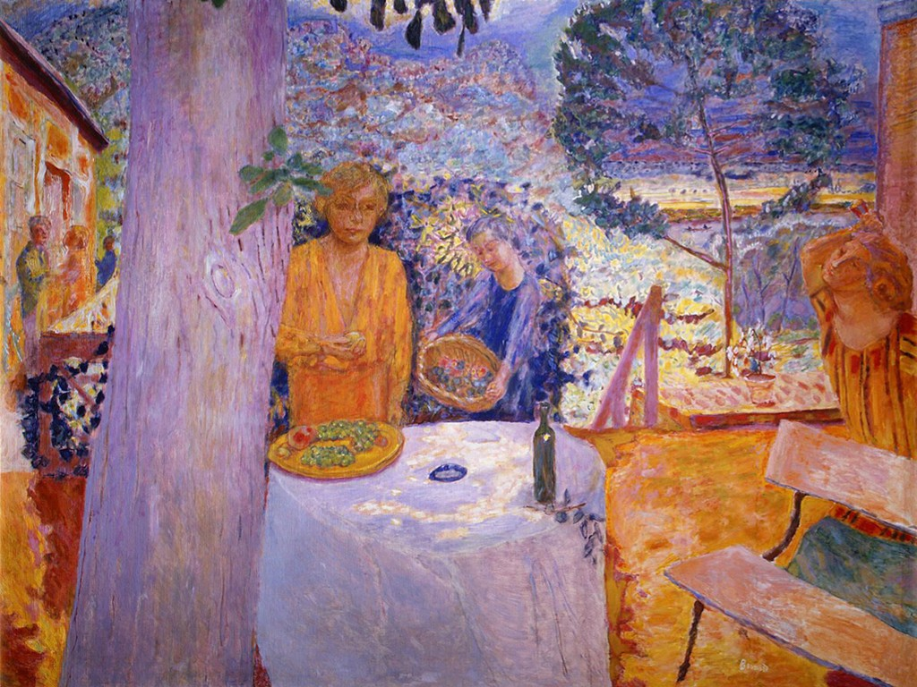 Artistic Wallpaper: Pierre Bonnard - The Terrace at Vernonnet