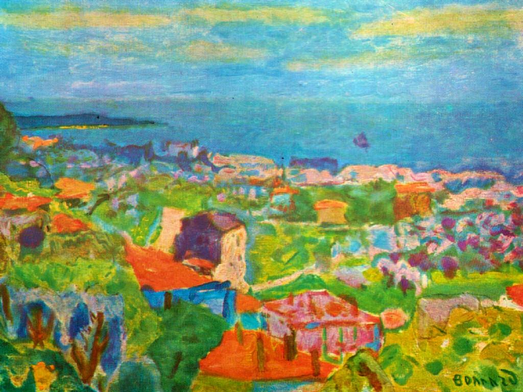 Artistic Wallpaper: Pierre Bonnard - View of Cannet