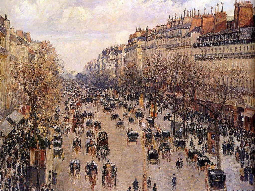 Artistic Wallpaper: Pissarro - Boulevard Montmartre