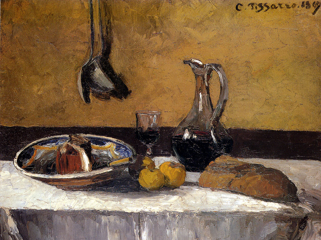Artistic Wallpaper: Pissarro - Still Life
