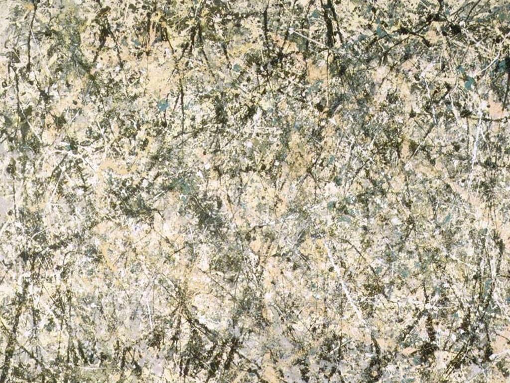 Artistic Wallpaper: Pollock - Lavender Mist