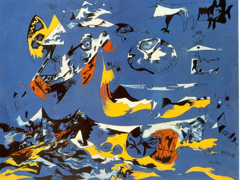 Artistic Wallpaper: Pollock - Blue (Moby Dick)