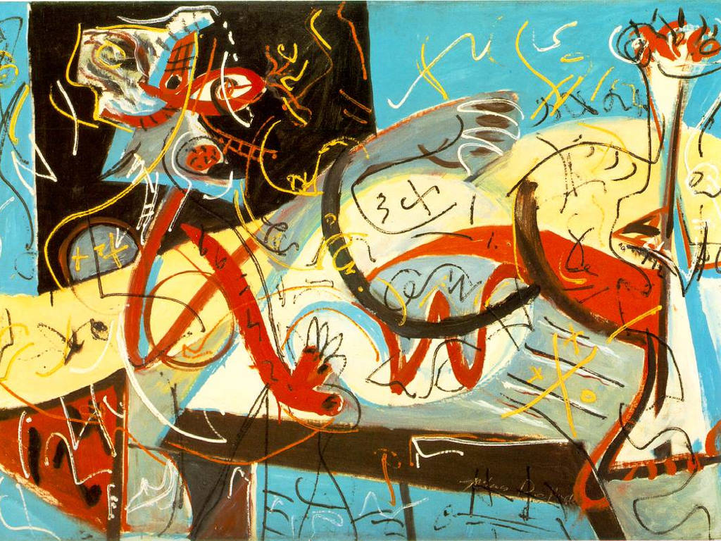 Artistic Wallpaper: Pollock - Stenographic Figure