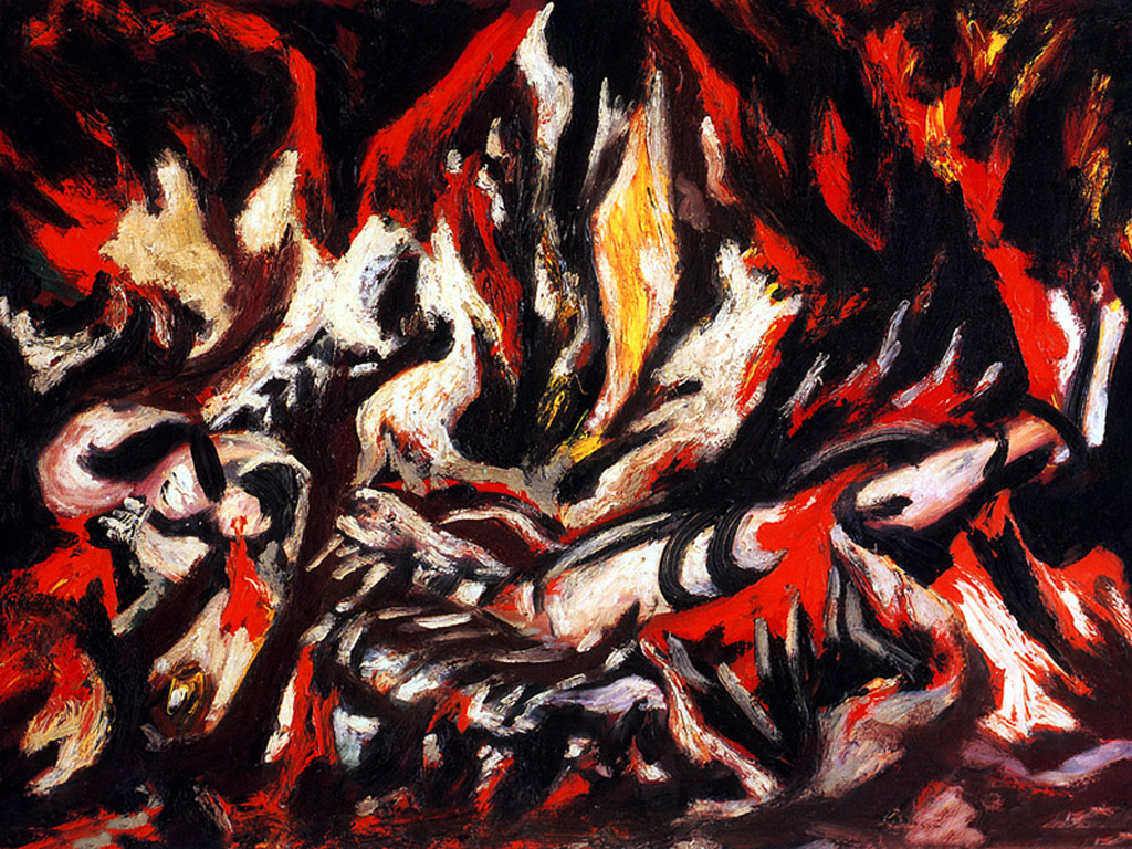 Artistic Wallpaper: Pollock - The Flame