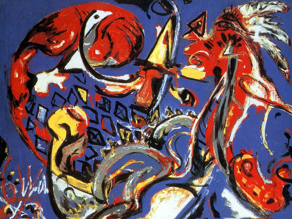 Artistic Wallpaper: Pollock - The Moon Woman Cuts the Circle