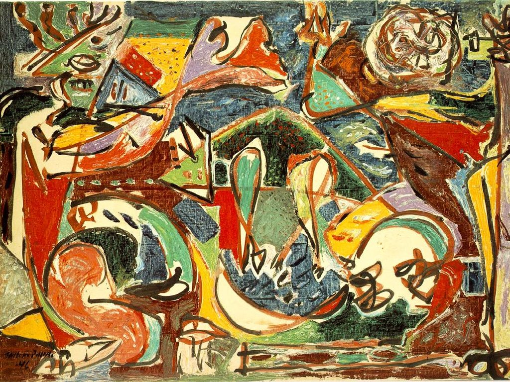 Artistic Wallpaper: Pollock