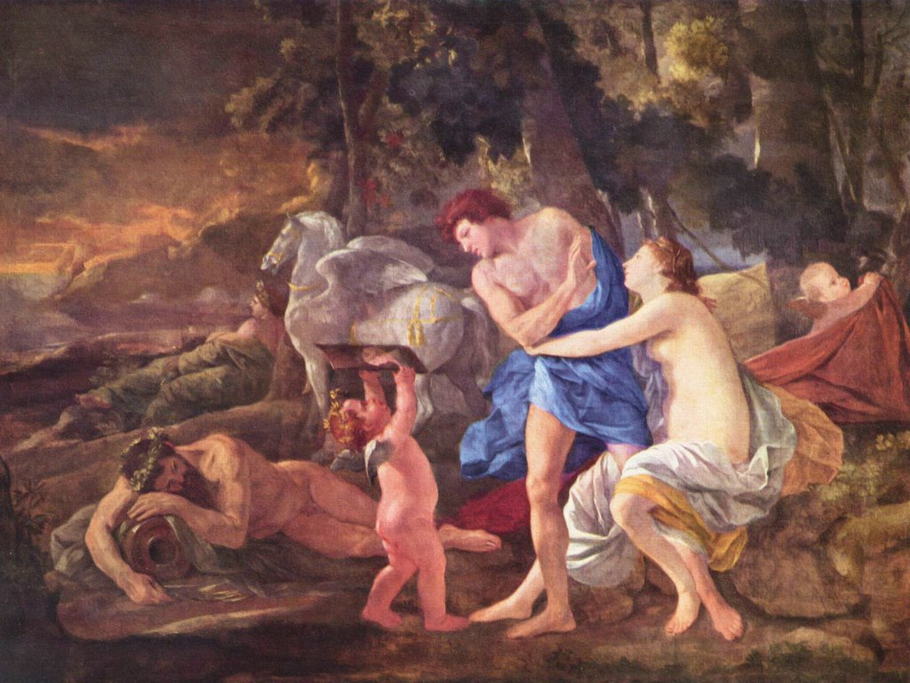 Artistic Wallpaper: Poussin - Cephalus and Aurora