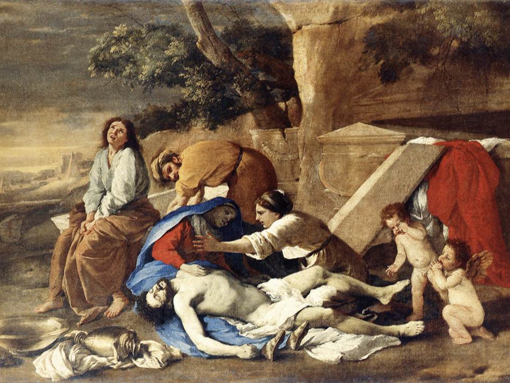 Artistic Wallpaper: Poussin - Lamentation over the Body of Christ