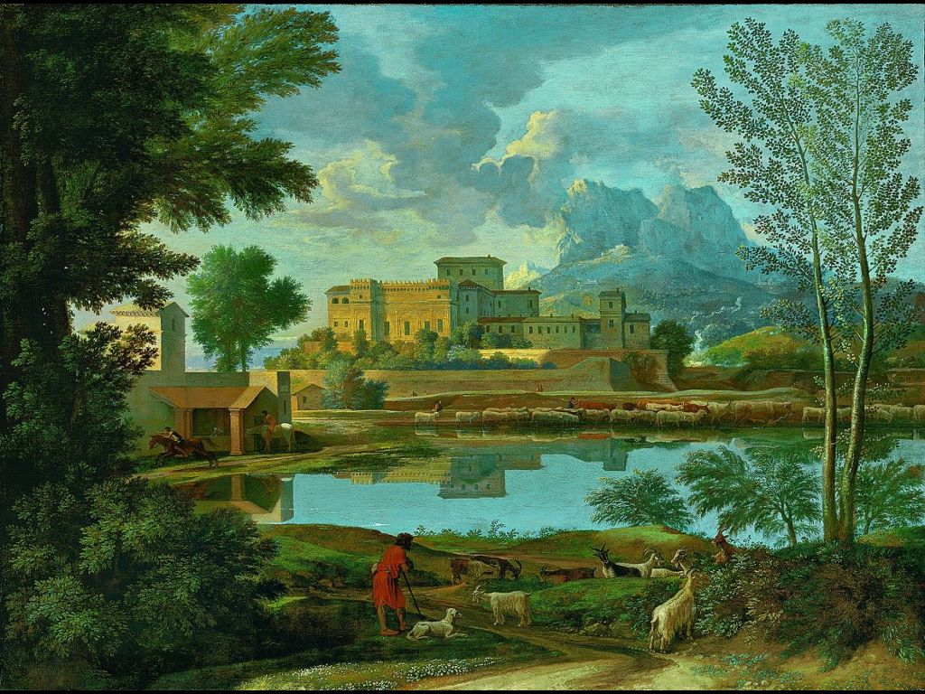 Artistic Wallpaper: Poussin - Landscape with a Calm