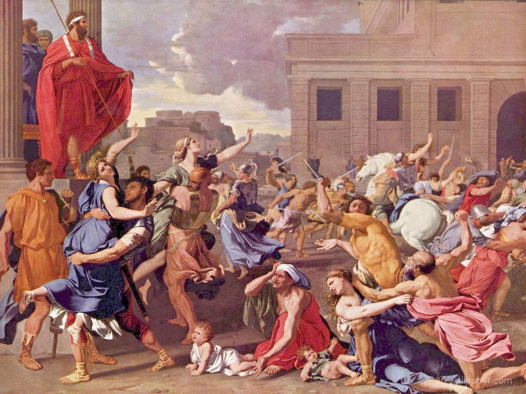 Artistic Wallpaper: Poussin - Rape of the Sabine Women