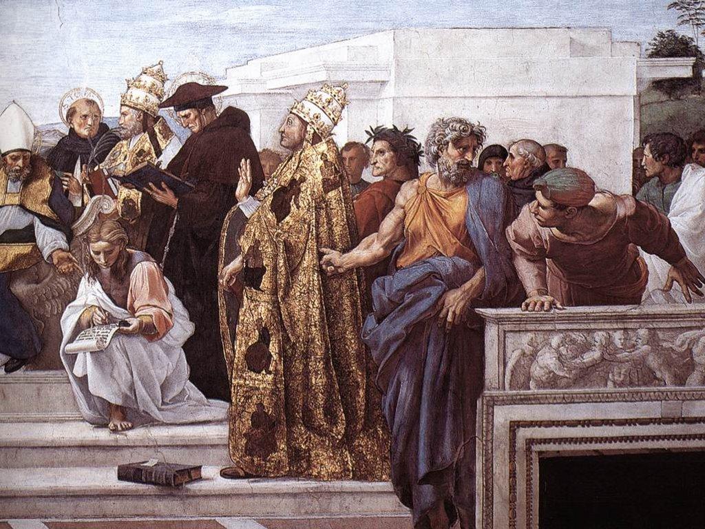 Artistic Wallpaper: Raphael - La Disputa (Detail)